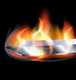 Flame and blade Stock Photo