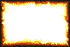 Flame Border. Computer generated flame border over white background Stock Images
