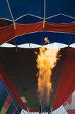 Flame from burner of hot air balloon Stock Images