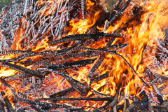 The flame of burning Stock Photography