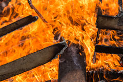 The flame is burning Stock Photos