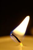 Flame of a candle Royalty Free Stock Images