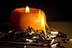 The flame of a candle Stock Photography