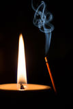 Flame of candle Stock Photo
