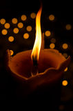 The flame from candle. Is a symbol of Buddhism Royalty Free Stock Photo