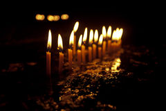 Flame of candles. Royalty Free Stock Photography