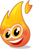 Flame cartoon. An illustration or cartoon of a flame of fire with an abstract face Stock Photography