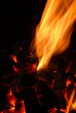 Flame and charcoal Stock Photos
