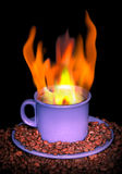 Flame of coffee Stock Photo