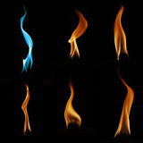 Flame collection Royalty Free Stock Photos