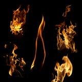 Flame collection Stock Photos