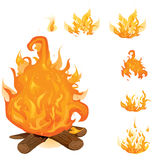 Flame collection Stock Image