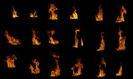 Flame compilation royalty free stock photos