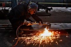 Flame cutting Stock Photos