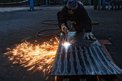 Flame cutting Royalty Free Stock Photo