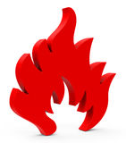 The flame Royalty Free Stock Photography