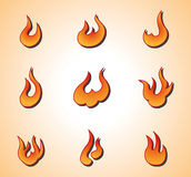 Flame elements Royalty Free Stock Image