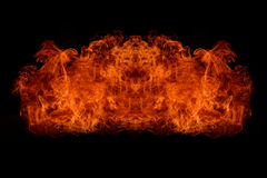 Flame explosion Stock Photos