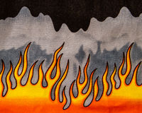 Flame fabric Stock Photos