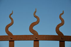 Flame fence Stock Image