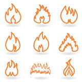 Flame and fire Royalty Free Stock Images