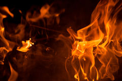 Flame fire abstract art texture and background Royalty Free Stock Photo