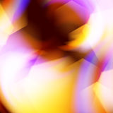 Flame fire background with hexagonal elements Stock Image