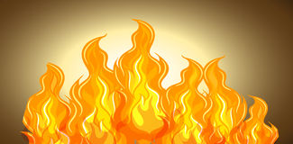 Flame of fire background. Illustration Royalty Free Stock Photos