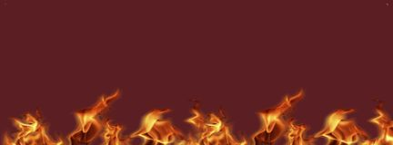 Flame fire banners ready for the work, background texture for add text or graphic design. vector illustration