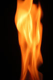 Flame fire on a black background Royalty Free Stock Photography