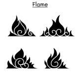 Flame, fire, burn vector. Illustration graphic design Stock Images
