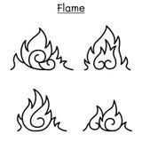 Flame, fire, burn Vector illustration. Vector illustration graphic design Stock Images