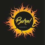 Flame fire burning. Vector design for banner Royalty Free Stock Photography