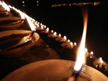 Flame of Fire. 1000 candles in India kund side is for serving godhead Stock Image