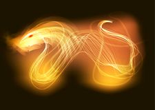 Flame of the fire dragon. Fits under the signboard, advertising print on the fabric Royalty Free Stock Photo