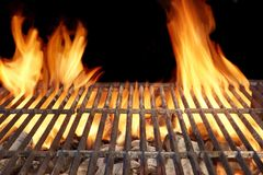 Flame Fire Empty Barbecue Grill Stock Image