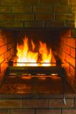 Flame fire fireplace Stock Images