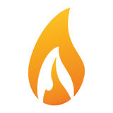 Flame fire glowing temperature hot. Vector illustration eps 10 Stock Images