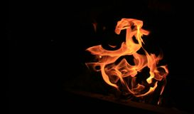Flame of fire royalty free stock photo
