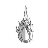 Flame fire icon Royalty Free Stock Photos