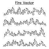 Flame & Fire icon set in thin line style. Vector illustration graphic design Stock Photography
