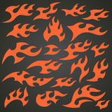 Flame And Fire Icons Stock Photo