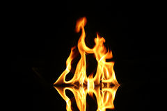 Flame fire Stock Photography