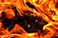 Flame, Fire, Orange, Close Up Stock Image