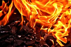 Flame, Fire, Orange, Computer Wallpaper Stock Photography