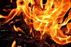 Flame, Fire, Orange, Computer Wallpaper Royalty Free Stock Images