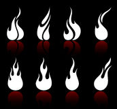 Flame and fire Royalty Free Stock Image