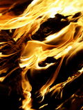 Flame and fire Stock Image