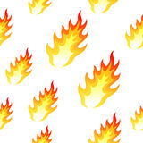 Flame, fire seamless background. Vector flame, fire seamless background on white Royalty Free Stock Photos