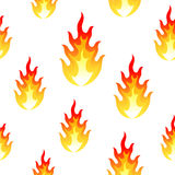 Flame, fire seamless background Royalty Free Stock Photography